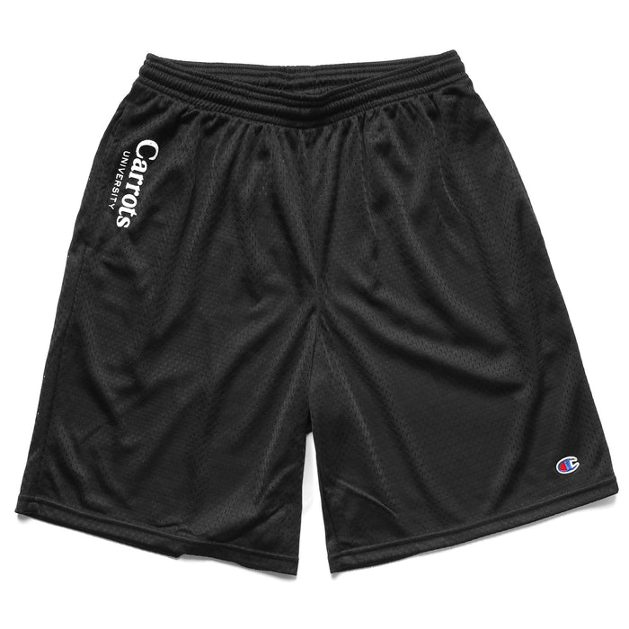 CHAMPION UNIVERSITY MESH SHORTS - BLACK