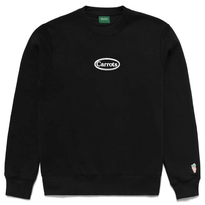 OVAL WORDMARK CREWNECK -  BLACK