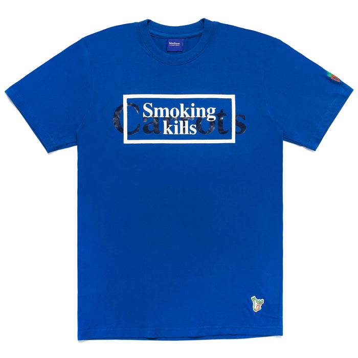 FXXKING CARROTS WORDMARK T-SHIRT - BLUE