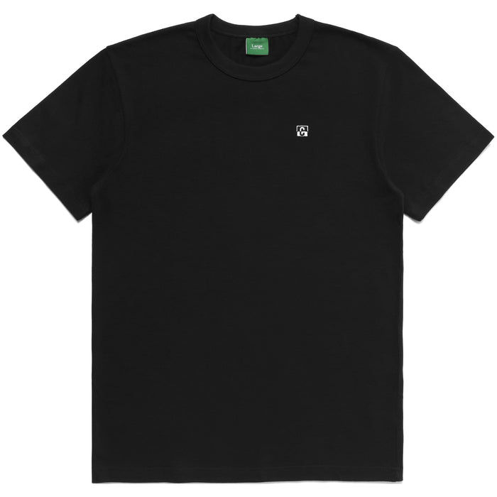 C BLOCK KNIT Tee - BLACK