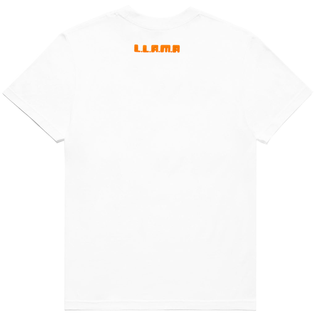 LLAMA WORDMARK YOUTH TEE - WHITE