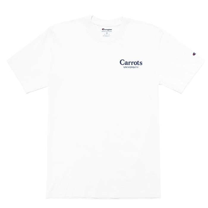 CARROTS UNIVERSITY T-SHIRT - WHITE