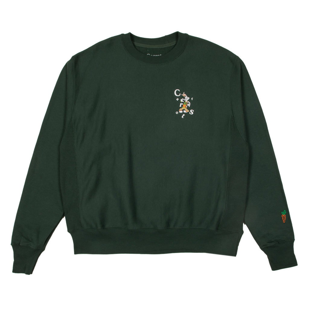 CARROTS X LOONEY TUNES 24KT WORDMARK CREW - GREEN