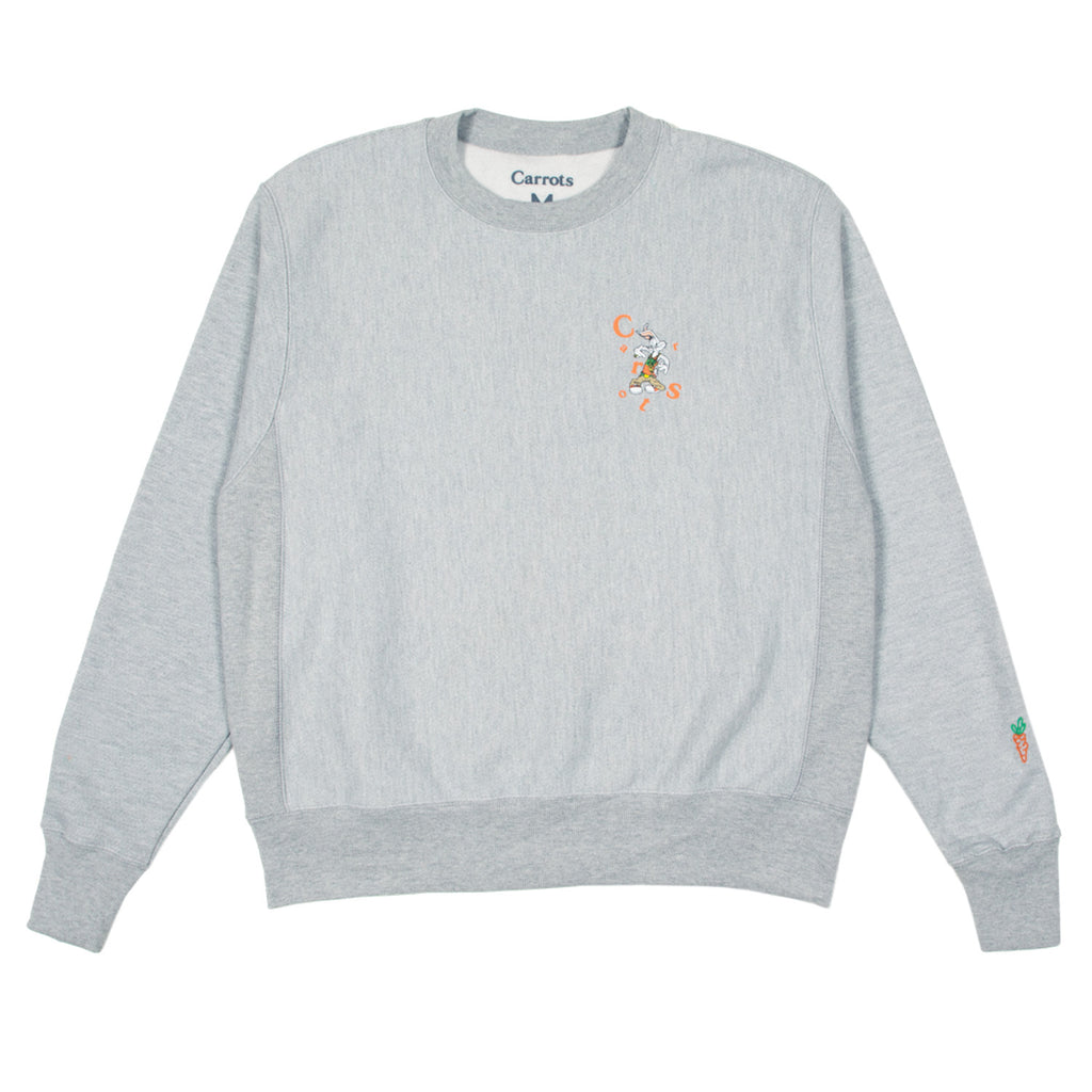 CARROTS X LOONEY TUNES COOL WORDMARK CREW - HEATHER