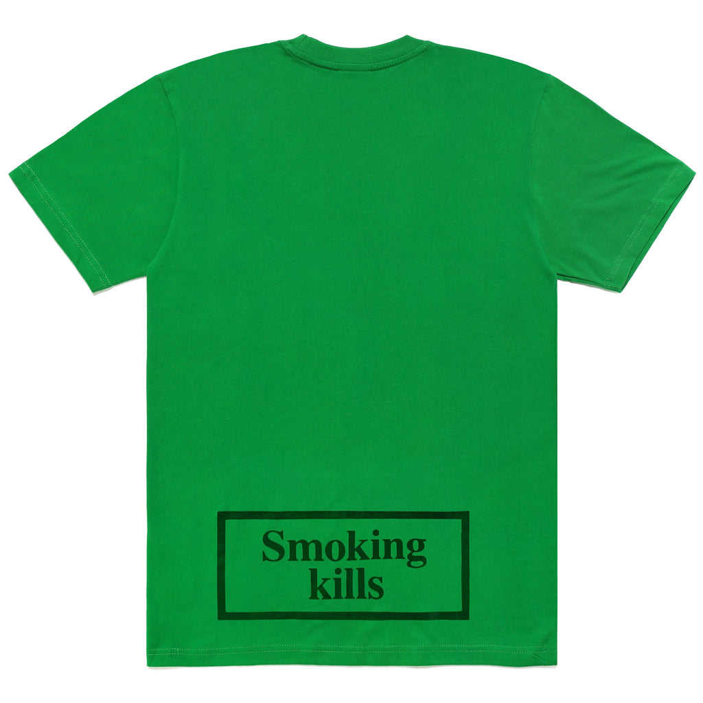 FXXKING SMOKING CARROTS LOGO T-SHIRT - GREEN