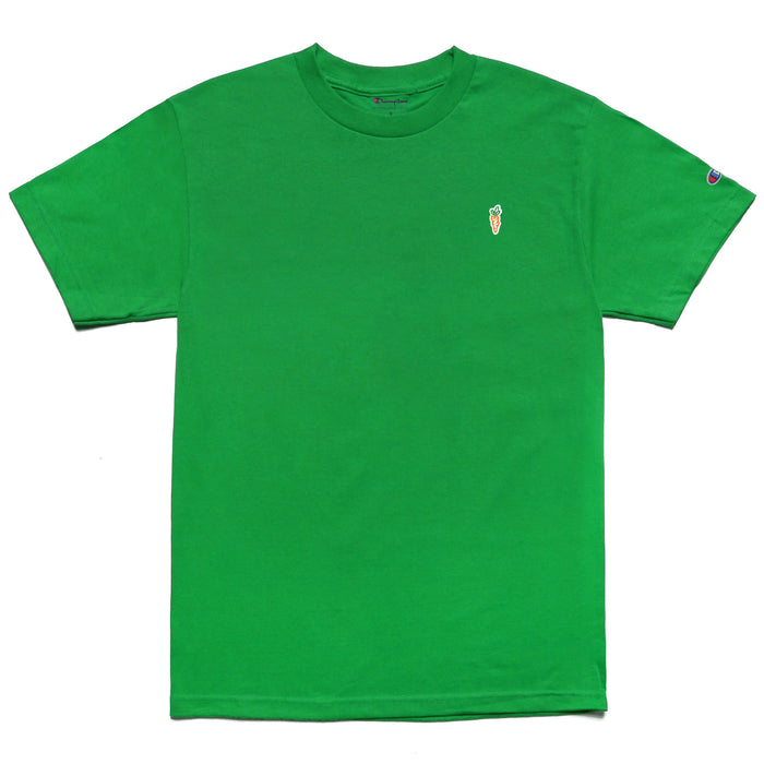 CHAMPION CARROT CHEST HIT T-SHIRT - GREEN