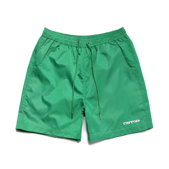 SERVADIO WORDMARK NYLON SHORTS - GREEN