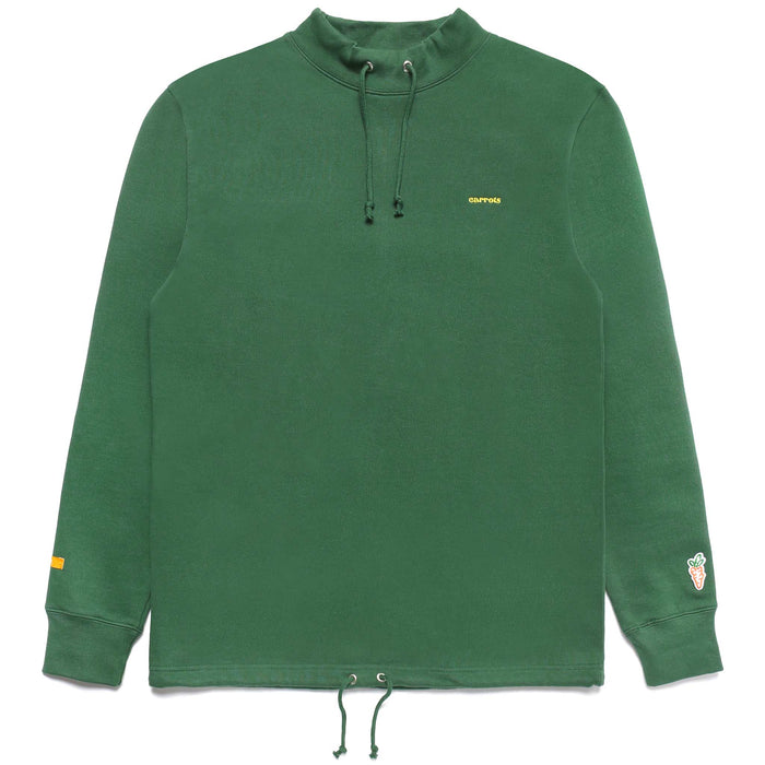 SERVADIO WORDMARK MOCK NECK SWEATER - GREEN
