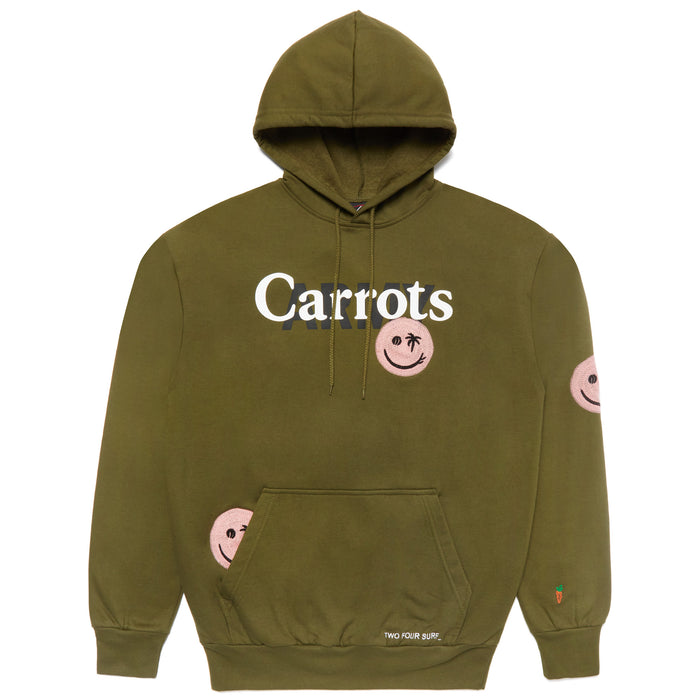 CARROTS ARMY HOODIE - OLIVE