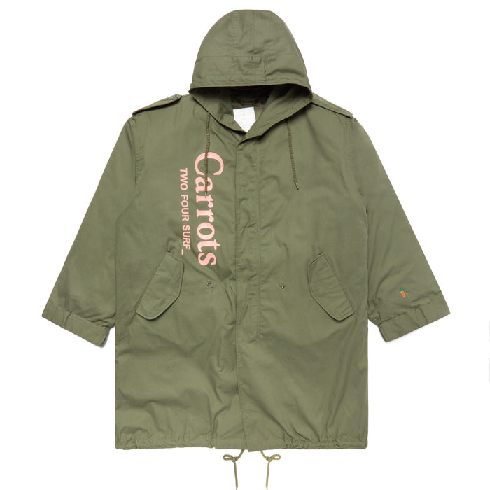 CARROTS ARMY PARKA JACKET - OLIVE