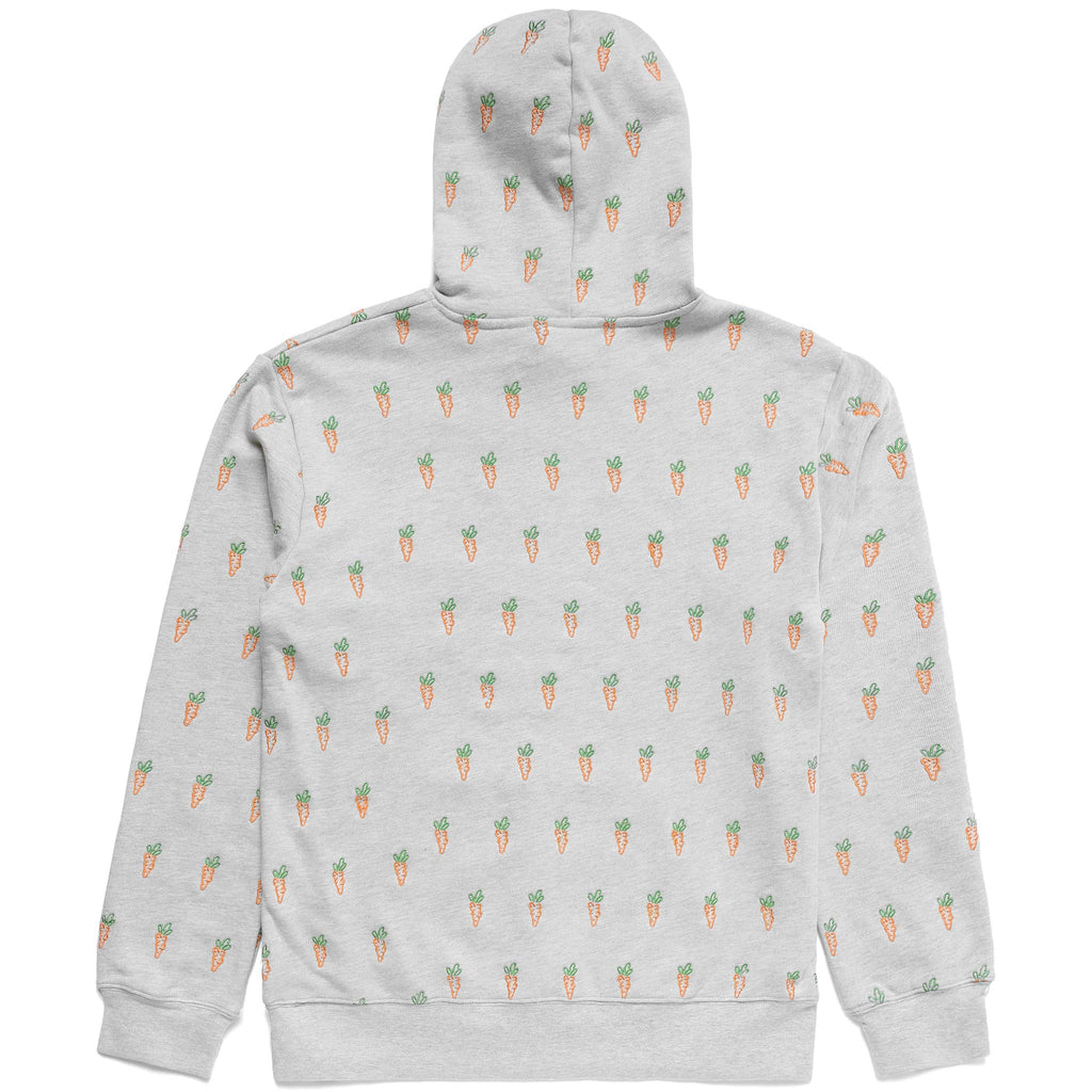 ALL OVER CARROT HOODIE - GREY