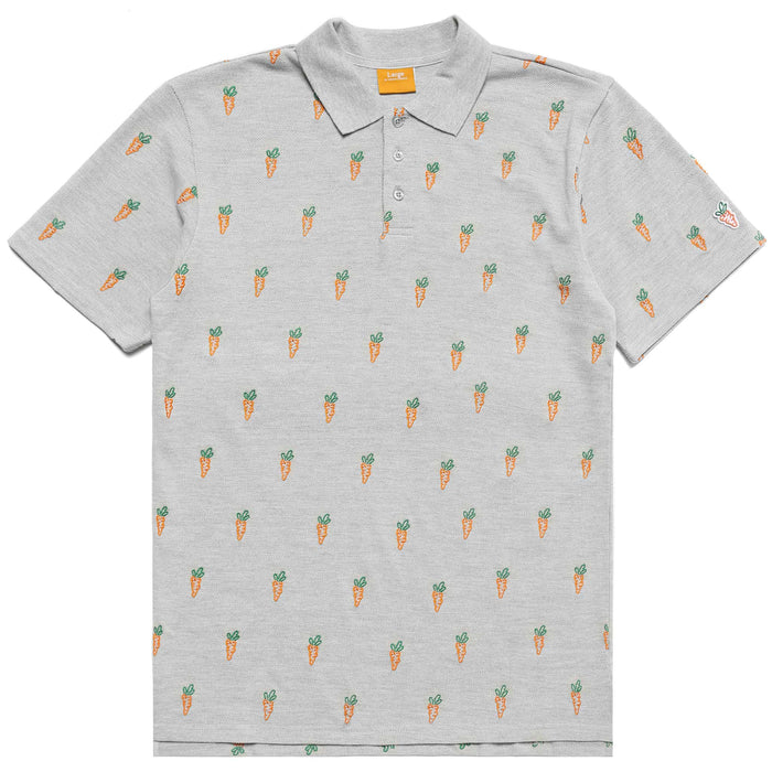 ALL OVER CARROT POLO - GREY