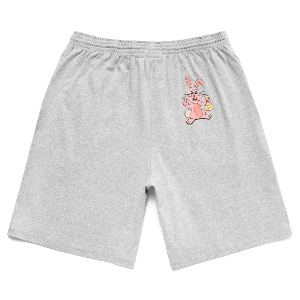 COKANE RABBIT SHORTS - HEATHER GREY