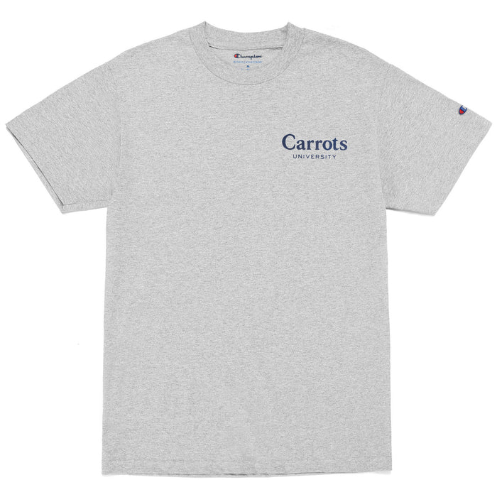 CARROTS UNIVERSITY T-SHIRT - HEATHER GREY