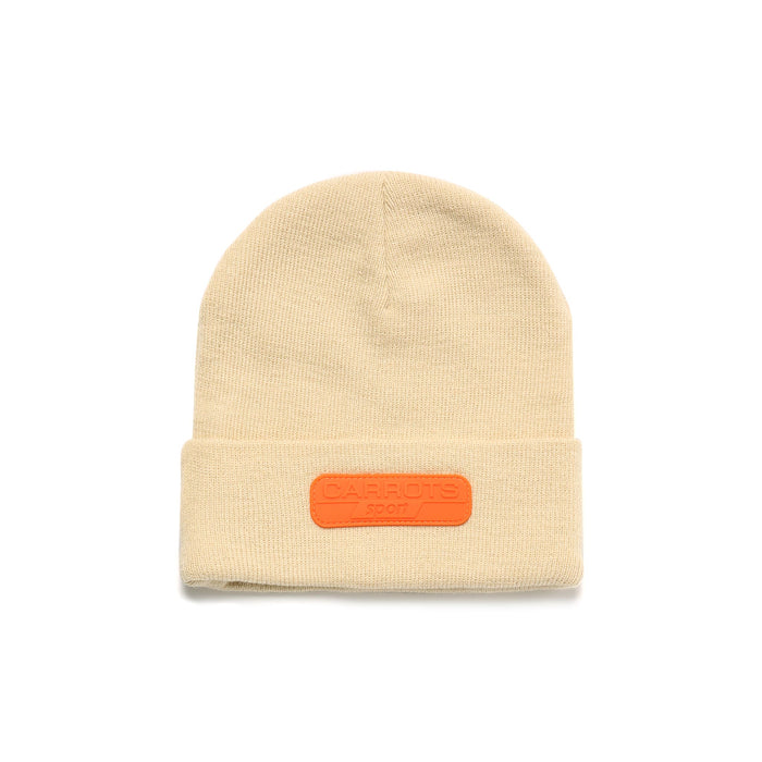 CARROT SPORT RUBBER PATCH BEANIE - IVORY
