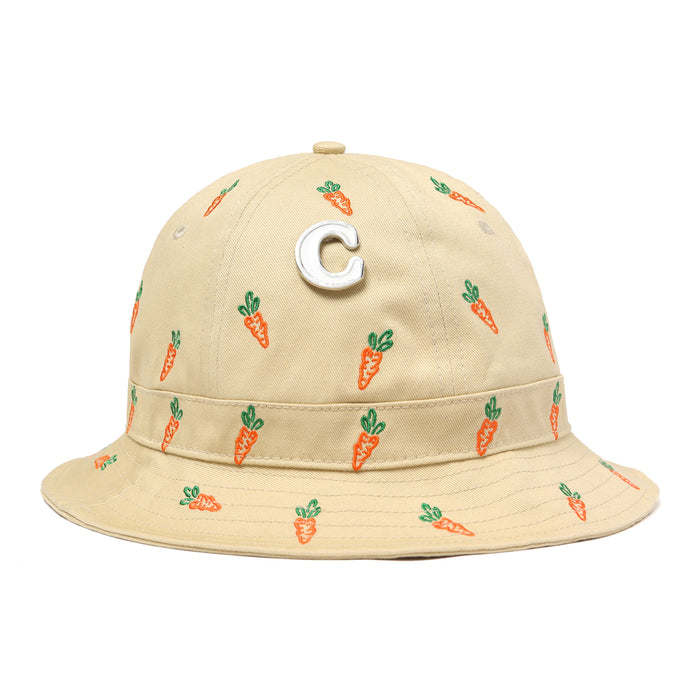 CARROTS ALL OVER BUCKET HAT - KHAKI