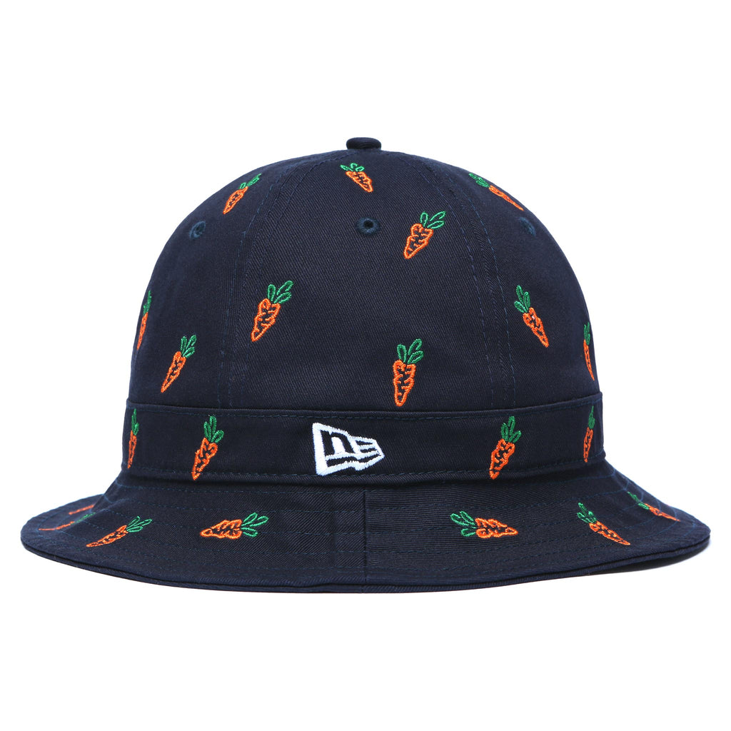 CARROTS ALL OVER BUCKET HAT - NAVY
