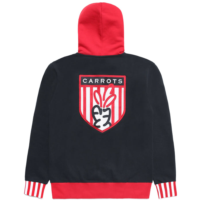 CARROT SHIELD ZIP UP HOODIE - NAVY