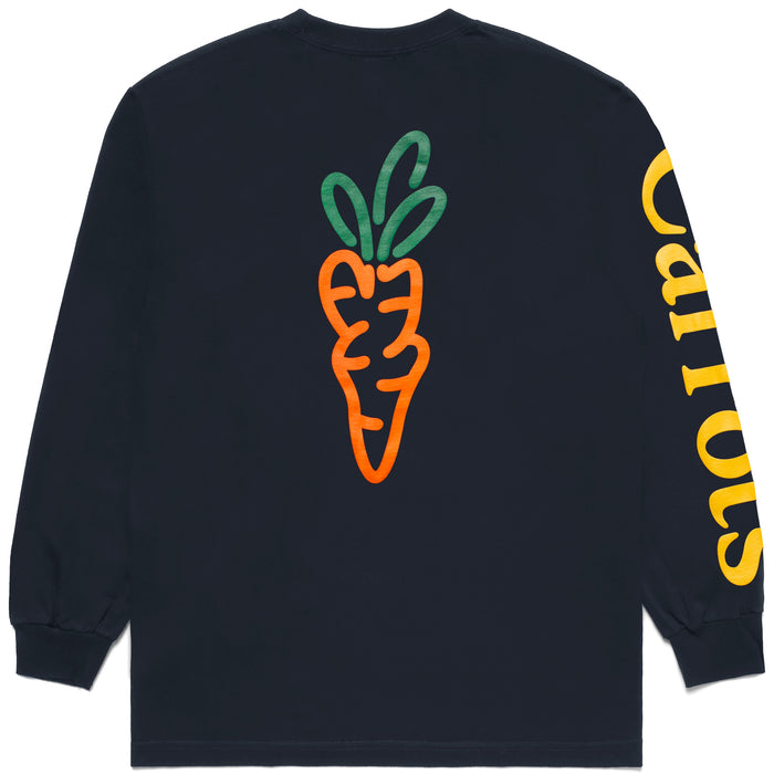 Signature Carrot Long Sleeve Tee - Navy