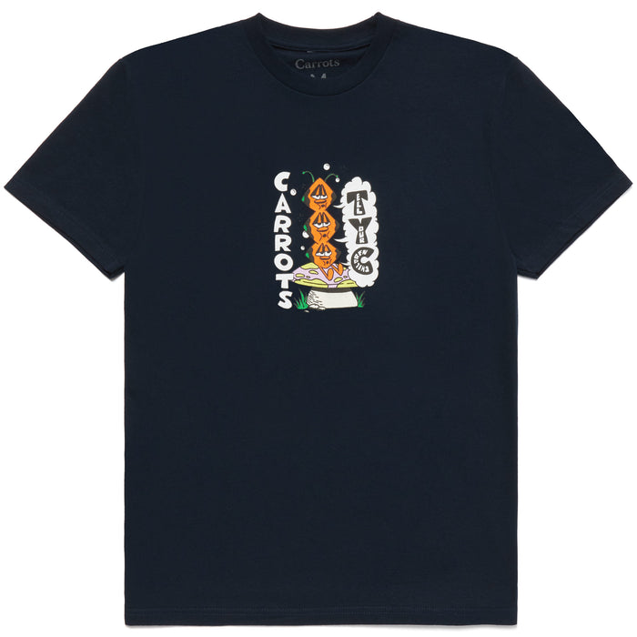 TRIPPY PILLAR TEE - NAVY