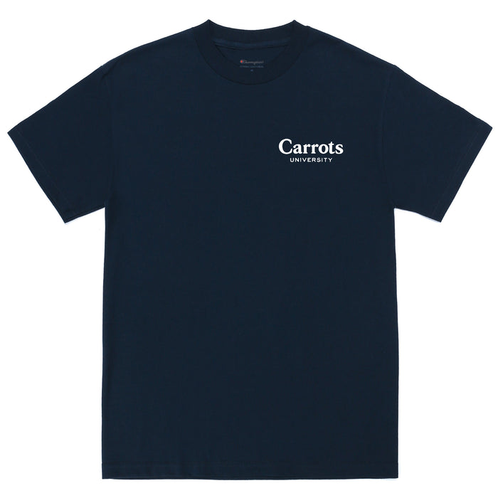 CARROTS UNIVERSITY T-SHIRT - NAVY