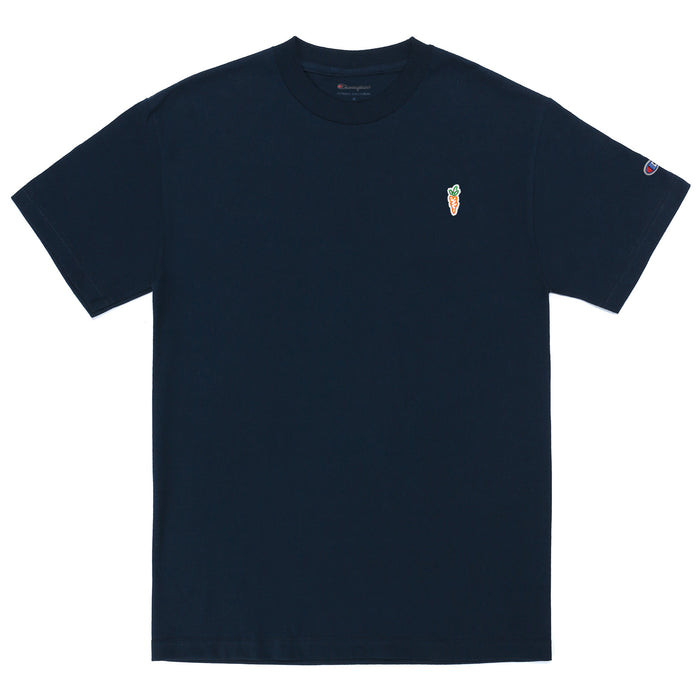 CHAMPION CARROT CHEST HIT T-SHIRT - NAVY