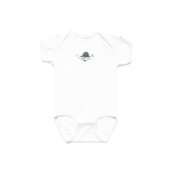 CARROTS X DEER DANA OLIVE YOU ONESIE - WHITE