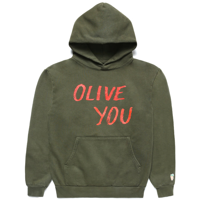 CARROTS X DEER DANA OLIVE YOU HOODIE - OLIVE