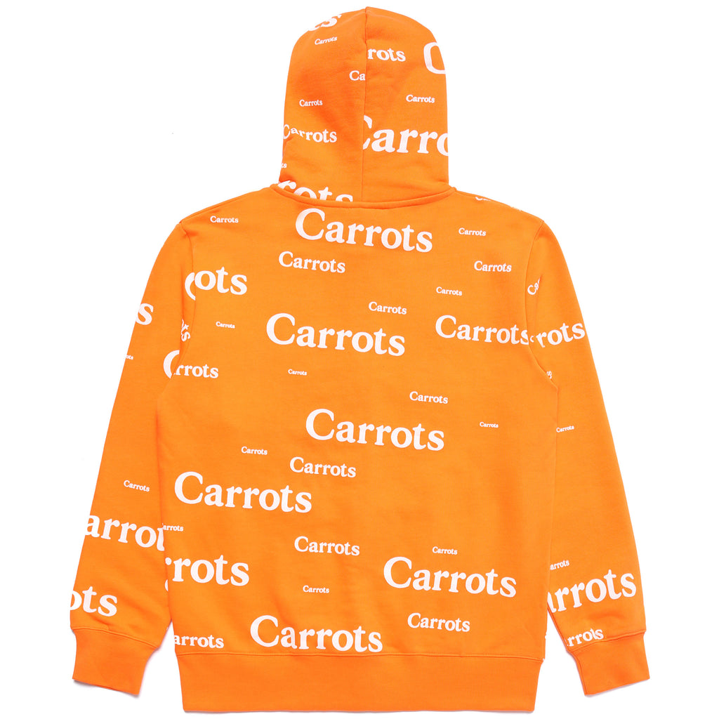 ALL OVER WORDMARK ZIP UP HOODIE - ORANGE