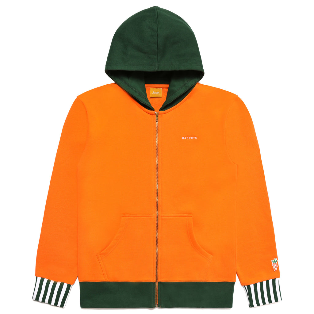CARROT SHIELD ZIP UP HOODIE - ORANGE