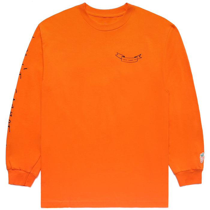 CARROTS X DEER DANA I DON'T CARROT LONG SLEEVE - ORANGE
