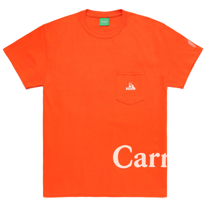 LOGO POCKET TEE - ORANGE