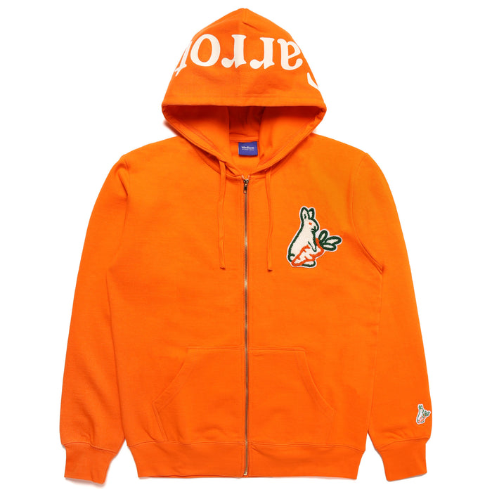 FXXKING CARROTS ZIP HOODIE - ORANGE
