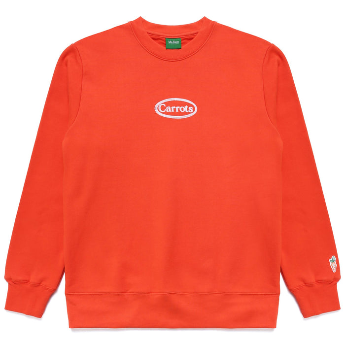 OVAL WORDMARK CREWNECK -  CAYENNE