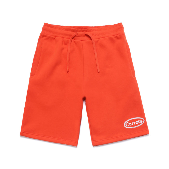 OVAL WORDMARK SWEAT SHORTS - CAYENNE