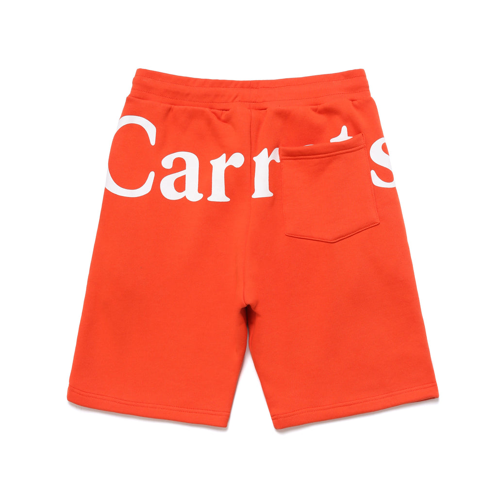 WORDMARK SWEAT SHORTS - CAYENNE