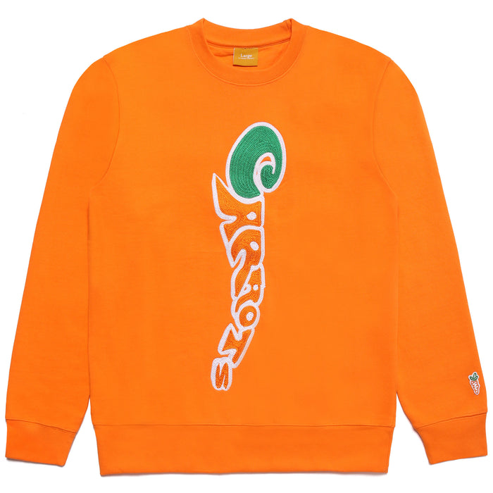 GROOVY WORDMARK CREWNECK SWEATSHIRT - ORANGE