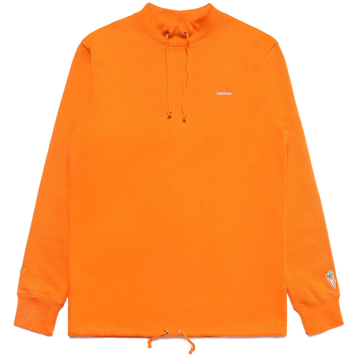 SERVADIO WORDMARK MOCK NECK SWEATER - ORANGE