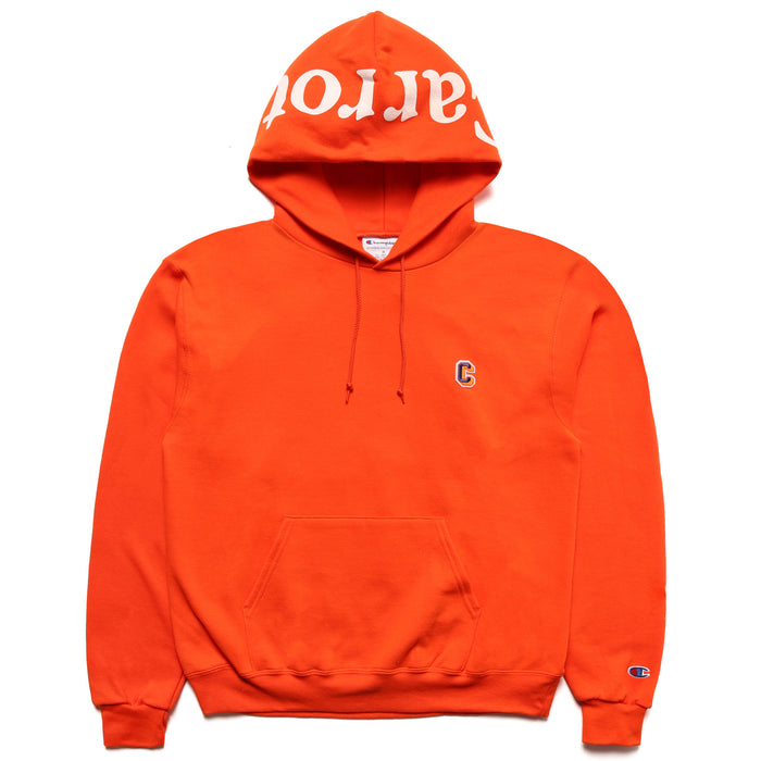 "CHAMPION BLOCK ""C"" HOODIE - ORANGE"