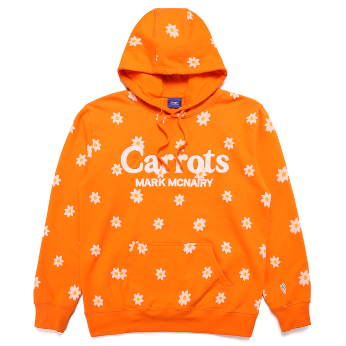 DAISY WORDMARK ALL OVER HOODIE - ORANGE