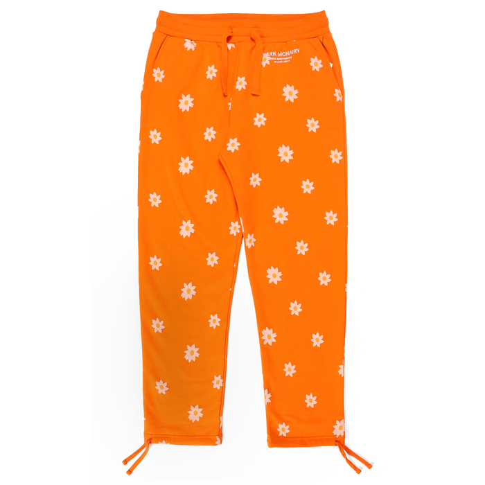 DAISY WORDMARK ALL OVER SWEATPANTS - ORANGE