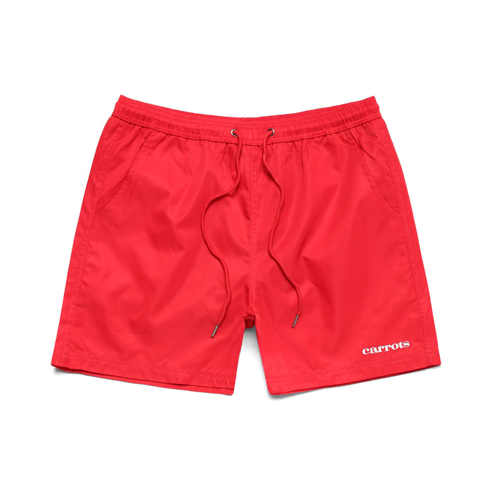 SERVADIO WORDMARK NYLON SHORTS - RED