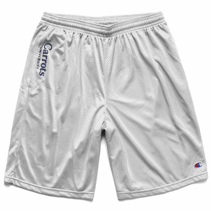 CHAMPION UNIVERSITY MESH SHORTS - HEATHER GREY