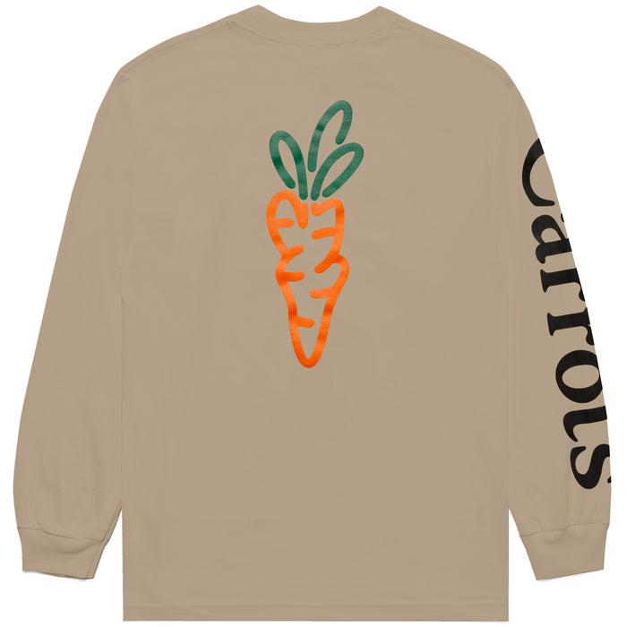 Signature Carrot Long Sleeve Tee - Tan