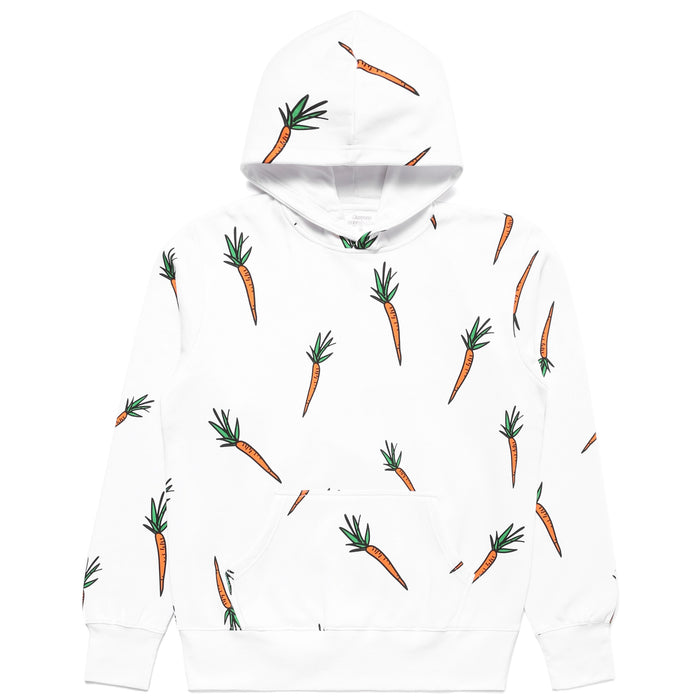 CARROTS X DEER DANA ALL OVER CARROT HOODIE - WHITE