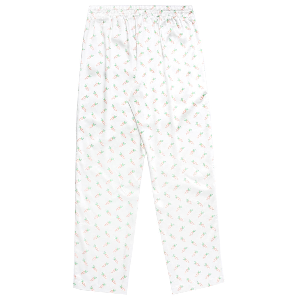 ALL OVER CARROTS PAJAMA SET - WHITE
