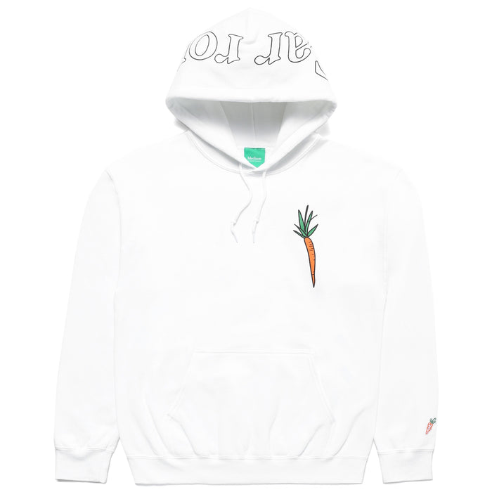 CARROTS X DEER DANA I DON'T CARROT HOODIE - WHITE