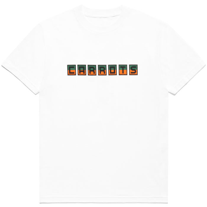 Block Carrots Tee - White
