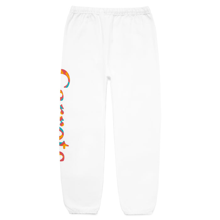 PATTERN WORDMARK SWEATPANT - WHITE