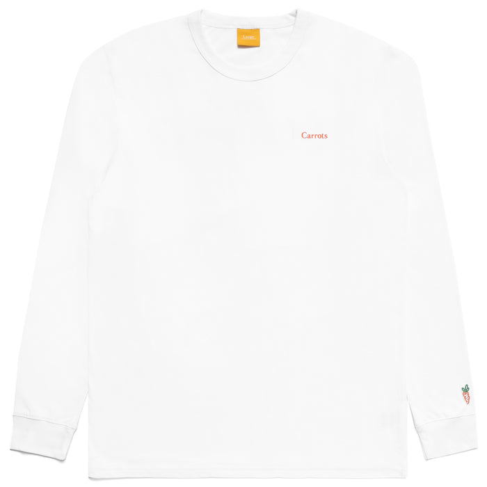 CARROTS WORDMARK LONG SLEEVE TEE - WHITE